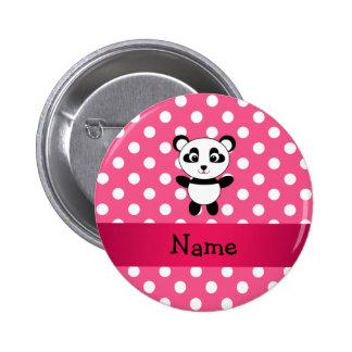 Lunares personalizados del blanco del rosa de la p pin