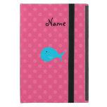 Lunares personalizados del rosa de la ballena de iPad mini coberturas