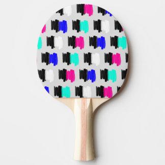 Lunares pintados retros coloridos del movimiento pala de ping pong