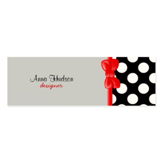 Lunares, puntos (modelo punteado) - negro blanco plantillas de tarjeta de negocio