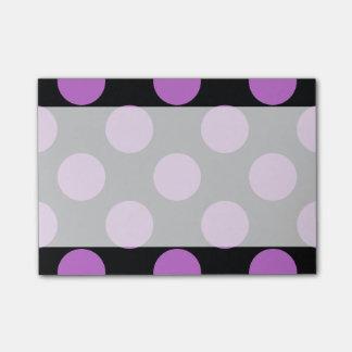 Lunares, puntos (modelo punteado) - negro púrpura post-it notas