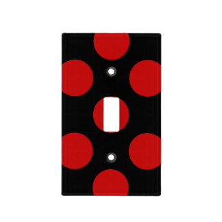 Lunares puntos modelo punteado - negro rojo