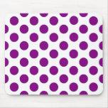 Lunares púrpuras blancos - Mousepad Tapetes De Ratones