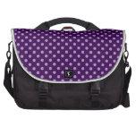 Lunares púrpuras bolsas para portátil