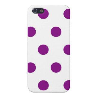Lunares púrpuras - caso del iPhone 5 iPhone 5 Protectores