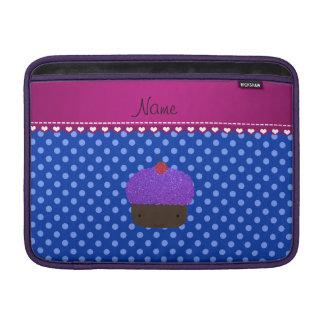 Lunares púrpuras conocidos personalizados del azul fundas macbook air