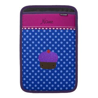 Lunares púrpuras conocidos personalizados del azul fundas MacBook