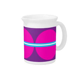 Lunares púrpuras de las rosas fuertes de la divers jarra para bebida