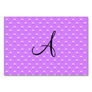 Lunares púrpuras en colores pastel de la perla del
