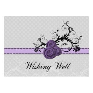 lunares púrpuras en colores pastel del damasco que tarjetas de visita grandes