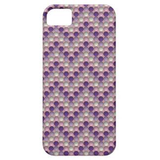 Lunares púrpuras en modelo de zigzag funda para iPhone SE/5/5s