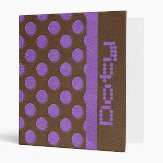 """Lunares púrpuras en textura del cuero del carpeta 1"""""""