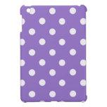 Lunares púrpuras iPad mini protector