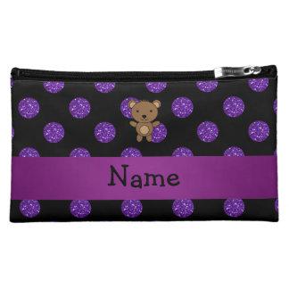 Lunares púrpuras personalizados del brillo del oso