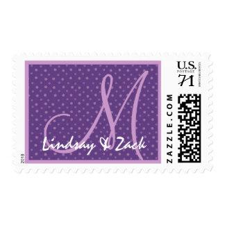 Lunares púrpuras que casan Ver 03 S533 Timbres Postales
