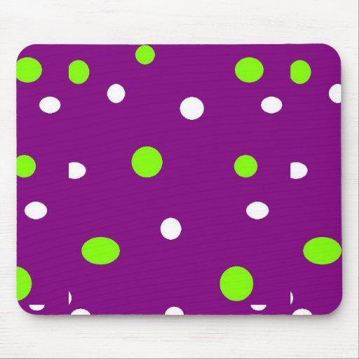 Lunares púrpuras tapete de ratón
