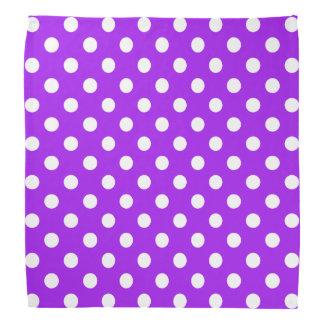 Lunares púrpuras y blancos bandanas