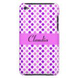 Lunares púrpuras y rosados Case-Mate iPod touch carcasas
