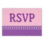 Lunares púrpuras y rosados V10W de las puntadas de Anuncios Personalizados