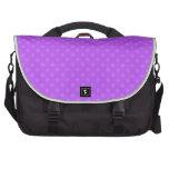 Lunares purpúreos claros bolsas para portatil