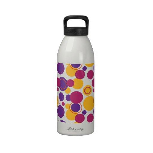 Lunares retros a montones - 9 botella de agua reutilizable