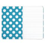 Lunares retros azules cuaderno grapado