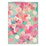 Lunares retros rosados románticos del trullo del e tarjetas