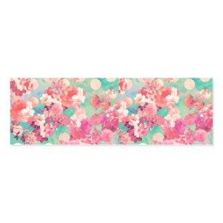 Lunares retros rosados románticos del trullo del e tarjeta de visita
