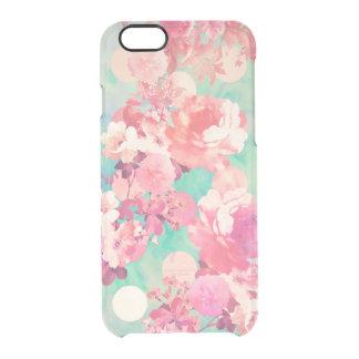 Lunares retros rosados románticos del trullo del funda clear para iPhone 6/6S