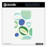 Lunares retros verdes calcomanía para iPod touch 4G