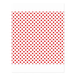 Lunares - rojo en blanco postales