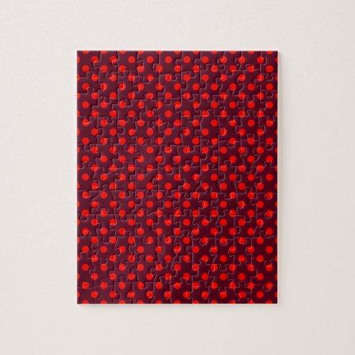 Lunares - rojo en escarlata oscuro puzzles con fotos