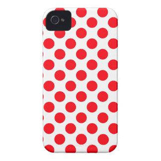 Lunares rojos blancos - caso del iPhone 4/4S iPhone 4 Coberturas