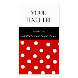 Lunares rojos, blancos y negros tarjetas de visita