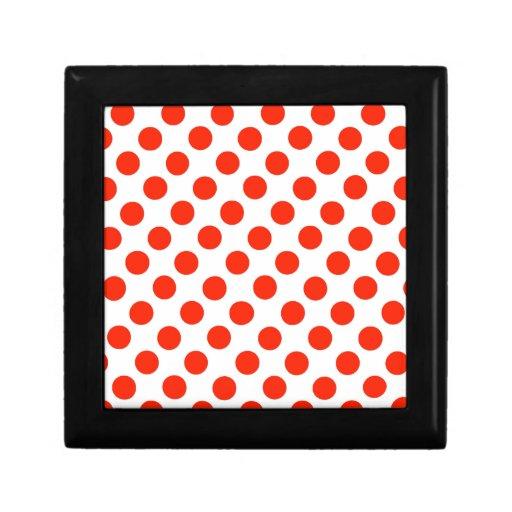 Lunares rojos cajas de recuerdo