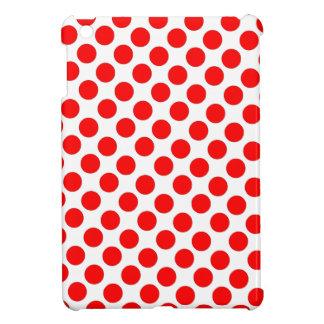 Lunares rojos con la caja blanca de Ipad del fondo