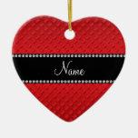 Lunares rojos conocidos personalizados ornaments para arbol de navidad