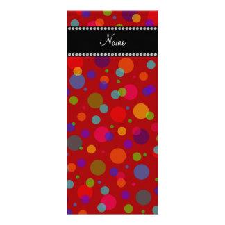 Lunares rojos conocidos personalizados del arco ir tarjeta publicitaria personalizada