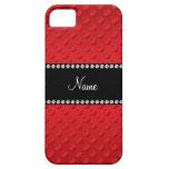 Lunares rojos conocidos personalizados iPhone 5 carcasa