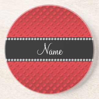 Lunares rojos conocidos personalizados posavasos manualidades