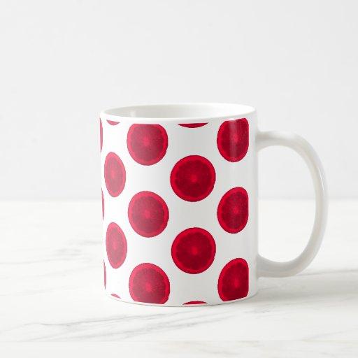 Lunares rojos de la fruta cítrica taza clásica