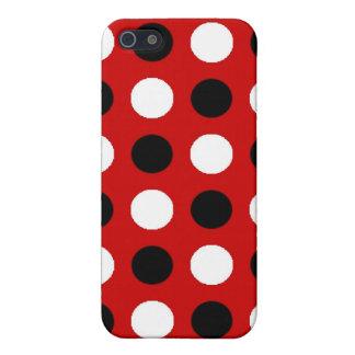Lunares rojos de rubíes iPhone 5 funda