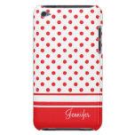 lunares rojos elegantes Case-Mate iPod touch carcasa