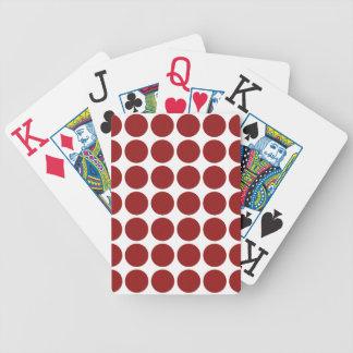 Lunares rojos en blanco baraja de cartas bicycle