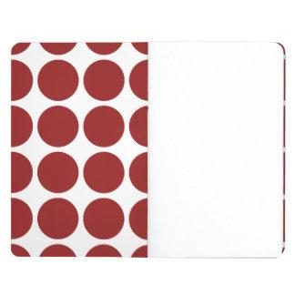 Lunares rojos en blanco cuaderno grapado