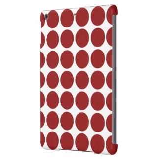 Lunares rojos en blanco funda para iPad air