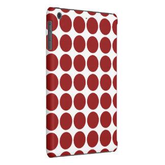 Lunares rojos en blanco fundas de iPad mini
