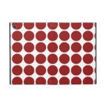 Lunares rojos en blanco iPad mini protector
