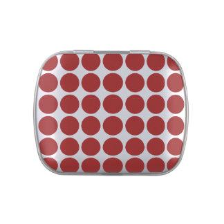 Lunares rojos en blanco jarrones de caramelos