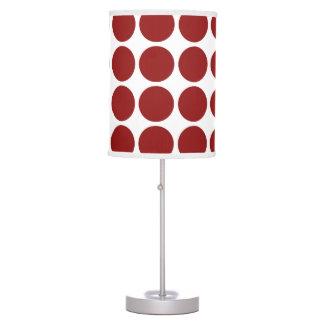 Lunares rojos en blanco lámpara de escritorio